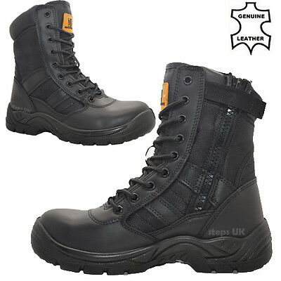 Mens Lightweight Non Safety Military Combat Boots Police Army Work Shoes Boots
