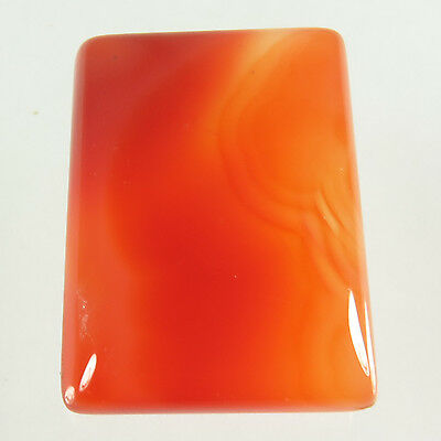 Amazing 33.30 Cts Natural CARNELIAN Gemstone Rectangle Cabochon 26x19 mm Trader