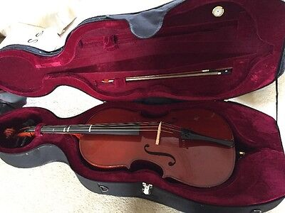 Cello 1/4 Size & 2 Cases 1 Padded, 1 Soft Lightweight Very Good Cond'n London N1