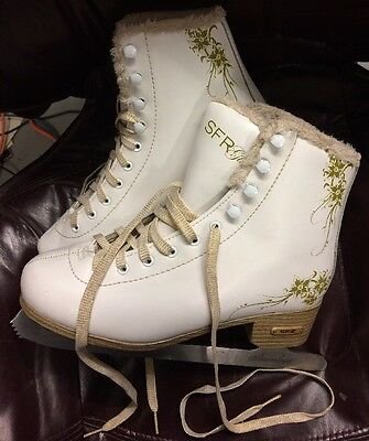 SFR Glitra Ice Skates UK Size 5 with Stainless Steel 245 Blades