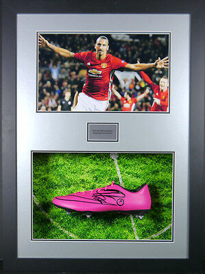 Zlatan Ibrahimovic Manchester United Signed Boot 3d Framed Display +COA