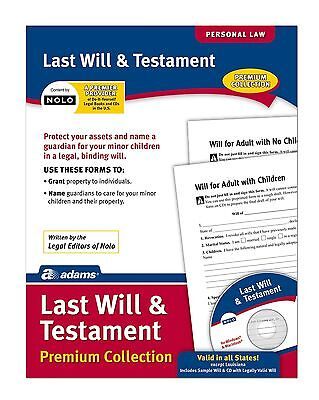 Adams Last Will and Testament Forms and Instructions Includes CD (LF235)