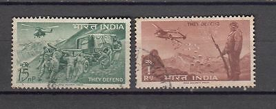India 1962 Defence Campaign Used set of 2 Stamps