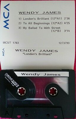 Wendy James Transvision Vamp London's Brilliant MCA 3 track promo cassette