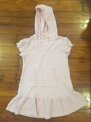 Girl's Xhilaration Swimsuit Cover Up, Size S (6/6X), Pink, Hooded