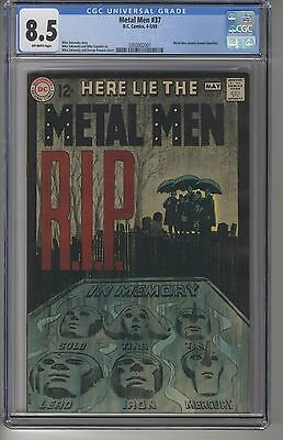 METAL MEN #37 CGC 8.5 OW Pages DC Silver Age