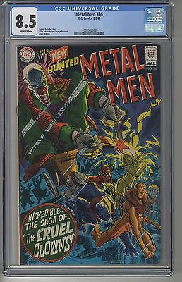 METAL MEN #36 CGC 8.5 OW Pages DC Silver Age