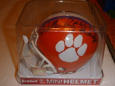"""Clemson William """"The Refrigerator"""" Perry Signed Mini Helmet NCAA National Champs"""