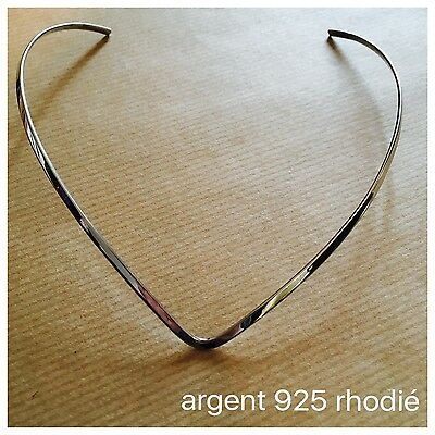 Seconde chance. Collier rigide en argent 925. Boutique PlumeDubois