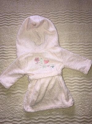 Baby Girls The Little White Company Pink Hooded Towelling Dressing Gown 6-12m