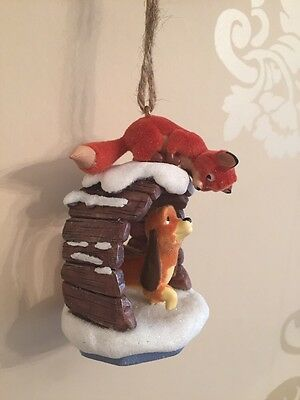 Disney Copper Tod Fox And The Hound Christmas Ornament Decoration Bauble