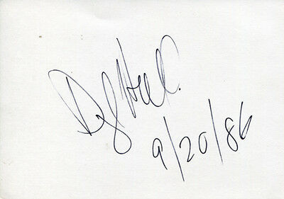 Daryl Hall autograph rock singer Hall & Oates, signed card