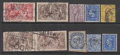 Great Britain   Perfins: Small Sellection Of Perfins Used... ... ... .