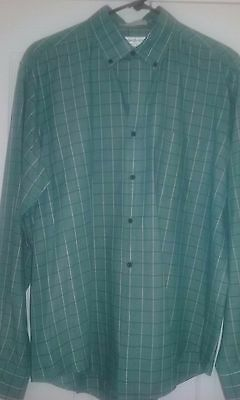 Yves Saint Laurent YSL Menswear Vintage Dress Shirt Size L