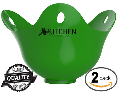 Egg Poacher - 2 pack For Cooking Poached Eggs -LIFETIME GUARANTEE! Best Quality