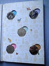 2016 beatrix potter 50p. coin album.with full set of coins.