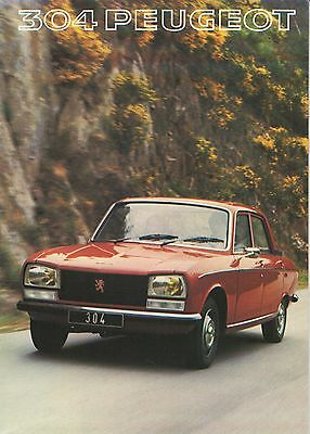 Peugeot 304 Berline Break • 1977 • Brochure Prospekt • Dutch • EXCELLENT