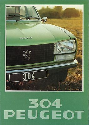 Peugeot 304 Berline Break • 1978 • Brochure Prospekt • Dutch • EXCELLENT