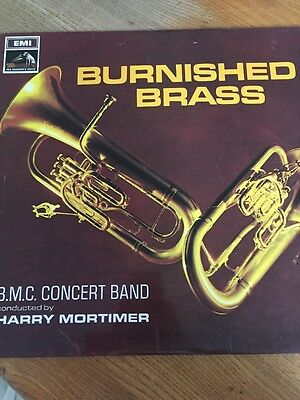 Burnished Brass B.m.c Concert Band Conducted By Harry Mortimer Vinyl Lp