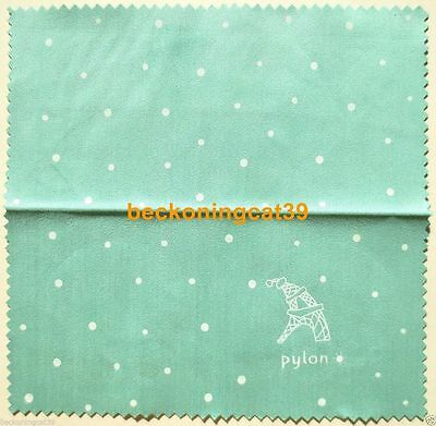 FREE SHIP Love Cute Female Lady Glass Cleaning Cloth Pylon Dot Green Gift JAPAN