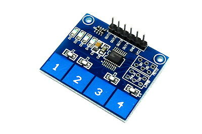 LC Technology TTP224 4 Ch Touch Sensor Module Capacitive Keypad Flux Workshop