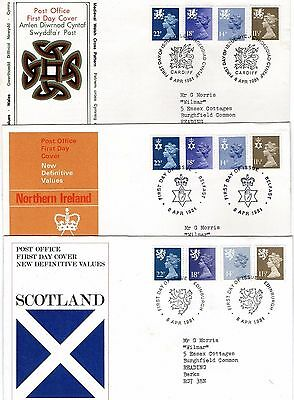 1981 Regional New Definitives With Special Hand Stamps Fdc's From Collection G1