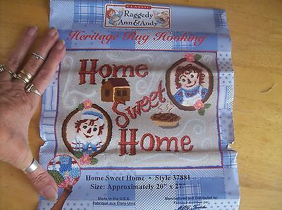 "Heritage Rug Hooking Kit Raggedy Ann & Andy Home Sweet Home 20"" X 27"""