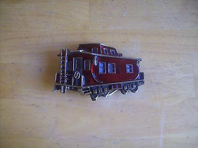 1979 The Great American Buckle Company Red Caboose Belt Buckle