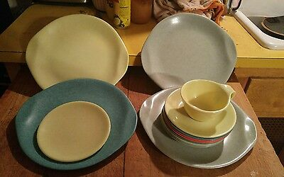 14 PC VTG Russel Wright Residential Plates, cup, saucers Mid Century