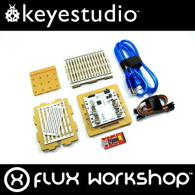 Keyestudio 4x4x4 Blue LED Cube Kit KS-182 328P Arduino DIY 64 Flux Workshop
