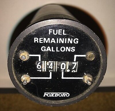 Aircraft Jet Fuel Remaining Indicator Foxboro Bell Huey Uh1 B205 Helicopter
