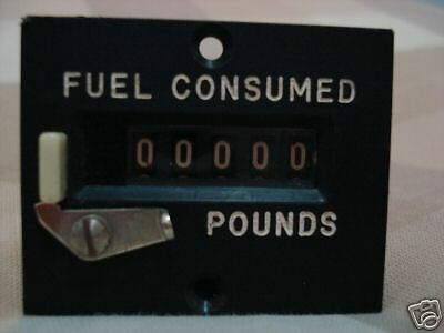 Cockpit Fuel Consumed Counter Pounds Indicator Electric Jet Aircraft
