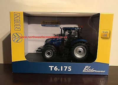 "Universal Hobbies 4959 1:32 Scale New Holland T6.175 ""blue Power"" **new Model**"