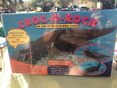 Croc-o-rock Motion Sensor Activate Dances And Sings Brand New Gator  Rock Star