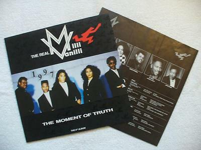 "The Real Milli Vanilli ""the Moment Of Truth"" Rare 1990 Ger Orig. Lp Mint + Ois"