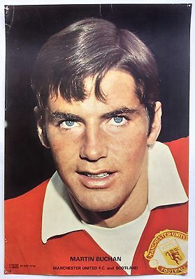 Manchester United 1970's Coffer Poster Martin Buchan
