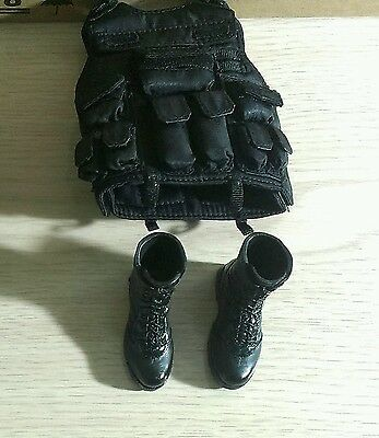1/6 scale VTS Dark Soldier Vest and boots action figure