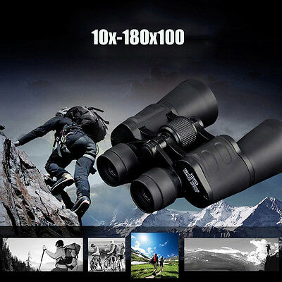 Day / Night 10-180x100 Military Army Zoom Powerful Binoculars 3000M Observation