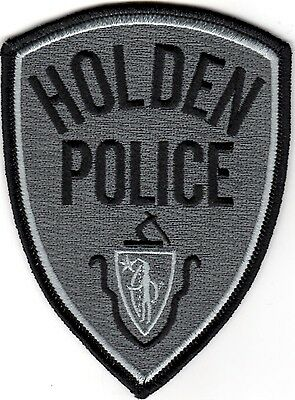 Holden Police Patch Massachusetts NEW silver grey