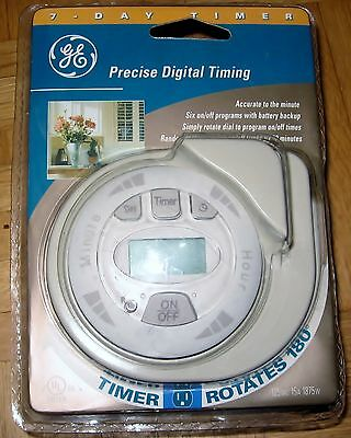 New GE 7 Day Precise Digital Timer