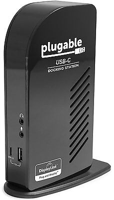 Plugable USB-C Triple Display Docking Station with Charging Support