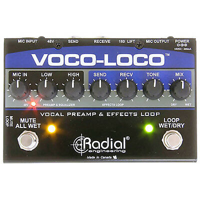 Radial Engineering Voco-Loco Voice Microphone Preamp Effect Loop Pedal