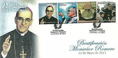 El Salvador 2015 Fdc Religion Beatification Monsignor Romero