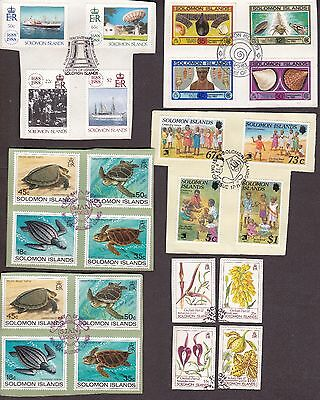 Solomon Islands Collection 39 Used Commemorative Stamps On Paper Lot 17-02