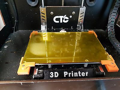 CTC 3D Printer Upgrade - Premium Borosilicate Glass Bed With Clips