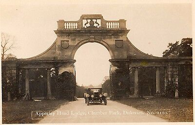 clumber notts apperley head lodge real photo postcard