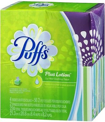 Puffs Plus Lotion White 2-Ply Facial Tissue - 4 CT