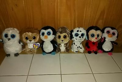 Beanie Boo lot - Retired boos solid eyes - King, Bugsy, Paddles, Spike, Fetch +