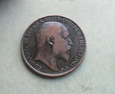 Edward VII Halfpenny 1902, Excellent Condition