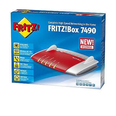 Fritz Box 7490 Router Adsl/vdsl 3G/4G  Ac+N Dual  Dect  Voip    .in